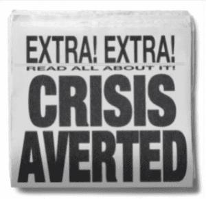 crisis-averted